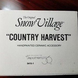 Snow Village Country Harvest Department56